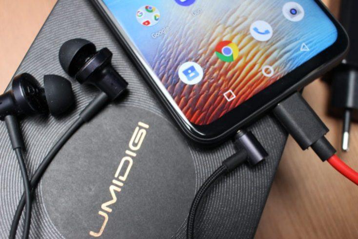 UMIDIGI F1 Smartphone AUX connector