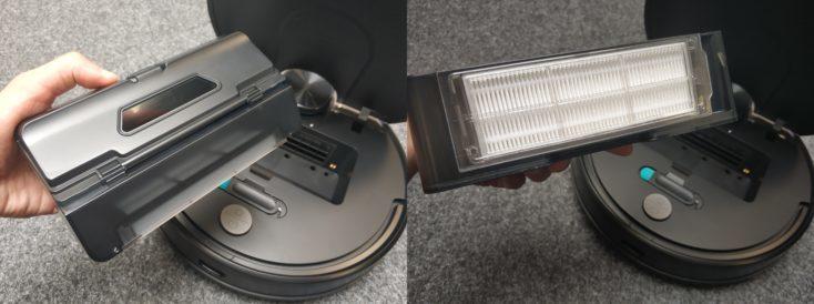 Viomi V2 vacuum robot dust chamber