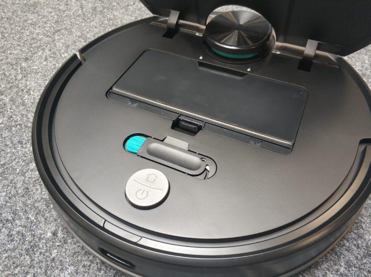 Viomi V2 vacuum robot flap dust chamber