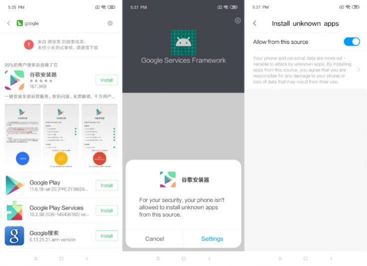 Xiaomi Mi 9 SE Install Google Play Store