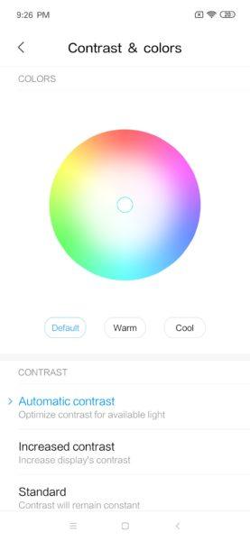 Xiaomi Mi 9 SE display settings