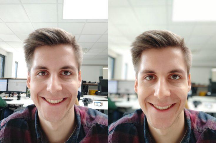Xiaomi Mi 9 SE test photo front camera portrait comparison