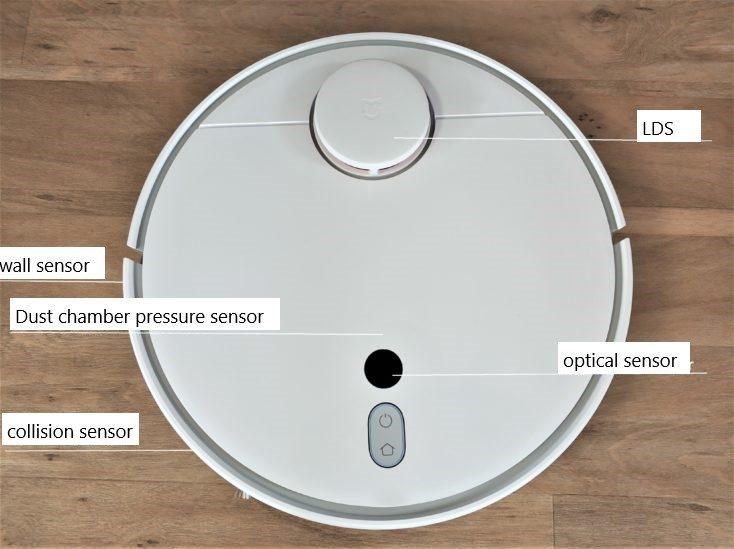 Xiaomi Mi Robot 1S Vacuum Robot Sensors with marking