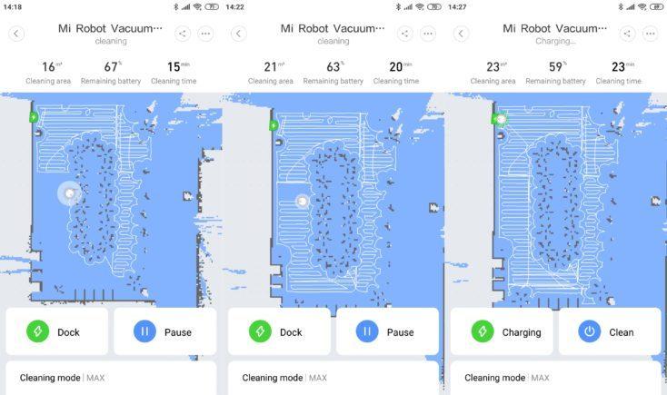 Xiaomi Mi Robot 1S Vacuum Robot Mi Home App Mapping