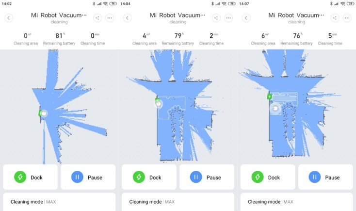 Xiaomi Mi Robot 1S Vacuum robot Mi Home App Mapping Navigation