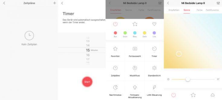 Xiaomi Mijia bedside lamp 2 Yeelight functions