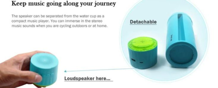 5-in-1 Water Bottle Speakers