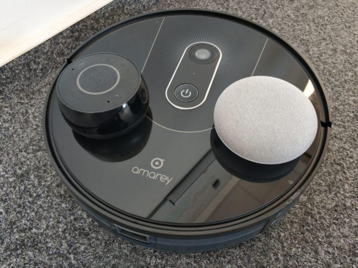 Amarey A900 vacuum robot Alexa Google Assistant voice control