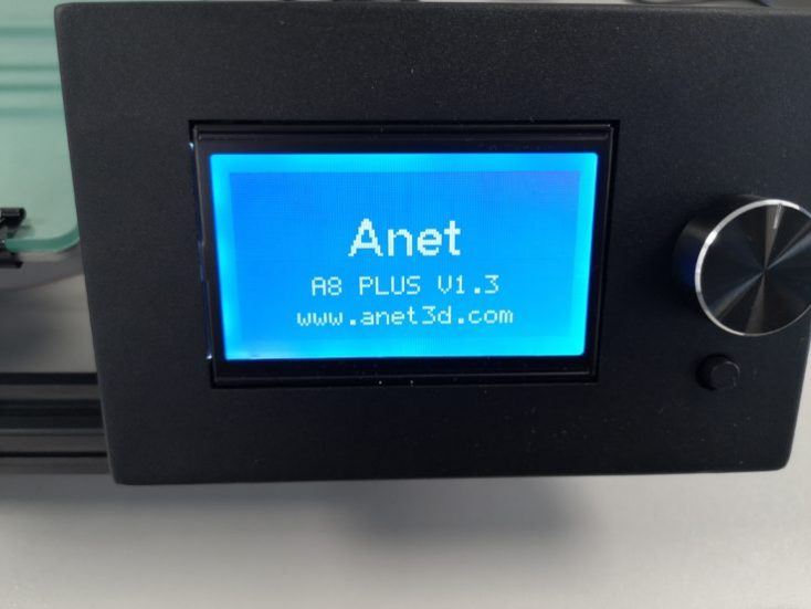 Anet A8 Plus Start Screen