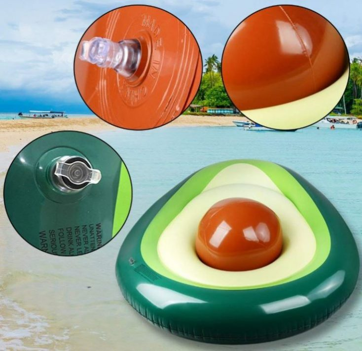 Avocado air mattress in detail