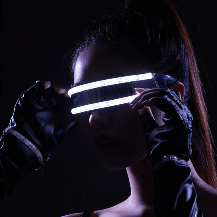 Festival LED Glasses white