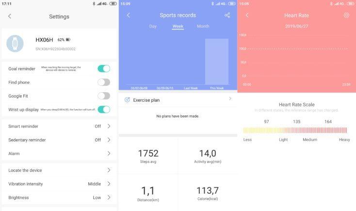 Lenovo HX06H Fitness tracker Lenovo Life App Settings