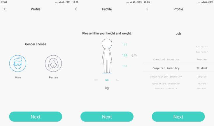 Lenovo HX06H Fitnesstracker Lenovo Life App personal settings