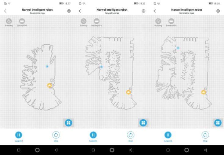 Narwal Robotics Vacuum Robot App Mapping
