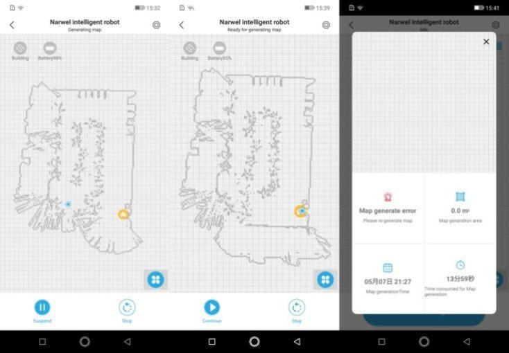 Narwal Robotics Vacuum Robot App Mapping Map