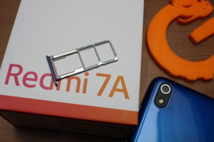 Redmi 7A SIM slot
