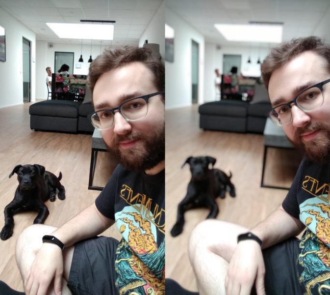Redmi 7A front camera test photo portrait comparison