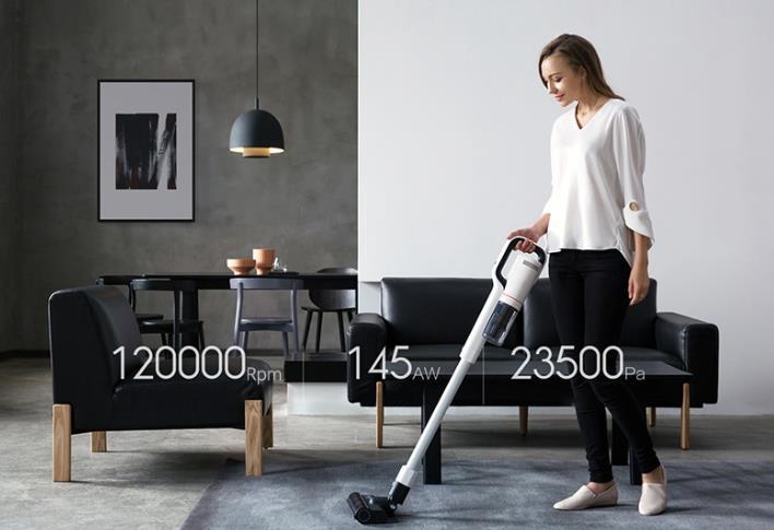 Roidmi NEX Battery Vacuum Cleaner Use