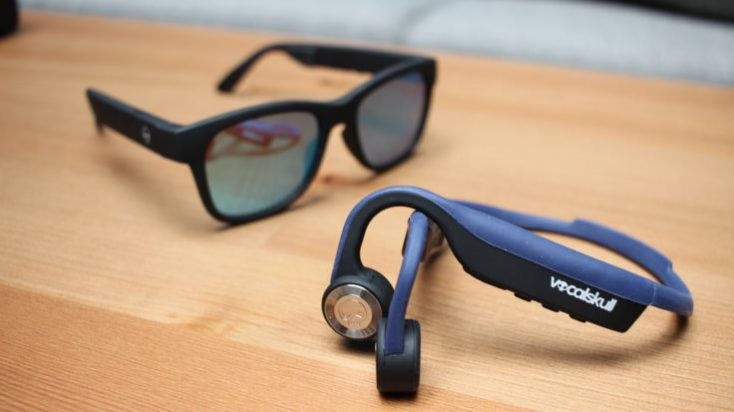 VocalSkull Beyond 5 Bone Conduction Headset and Sunglasses