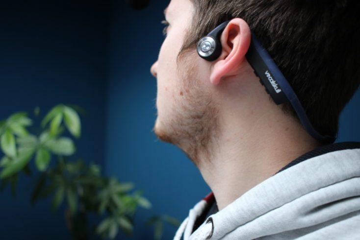 VocalSkull Beyond 5 Bone Conduction Headset worn