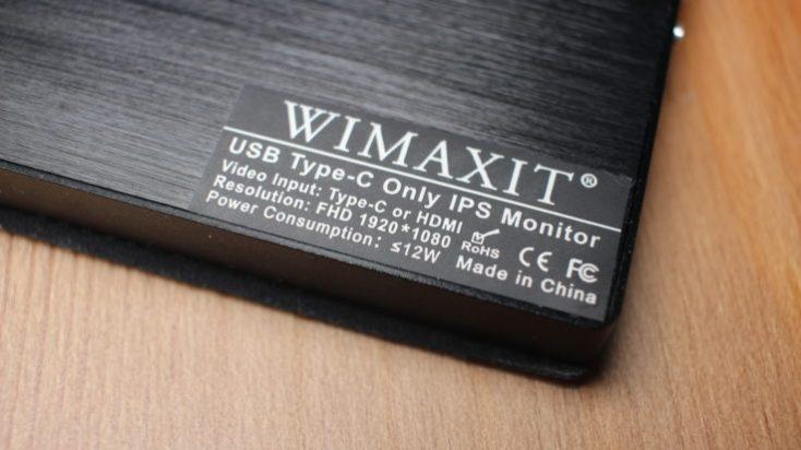 WIMAXIT 15.6 inch USB-C Monitor CE Marking