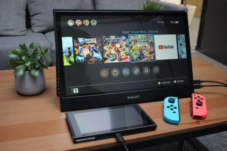 WIMAXIT 15.6 inch USB-C Monitor Nintedo Switch Gameplay