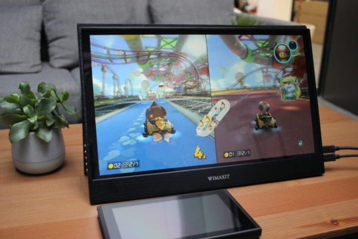 WIMAXIT 15.6 inch USB-C Monitor Nintedo Switch Gameplay Split Screen