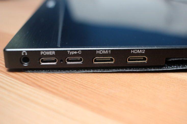 WIMAXIT 15.6 inch USB-C monitor connectors