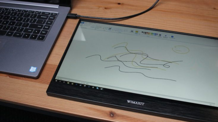 WIMAXIT 15,6 inch USB-C Monitor on Laptop