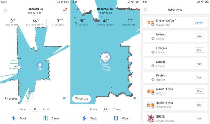 Xiaomi RoboRock S6 Vacuum robot Mi Home App Language pack