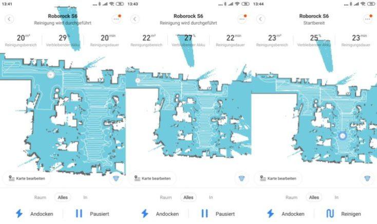 Xiaomi RoboRock S6 vacuum robot Mi Home App Mapping