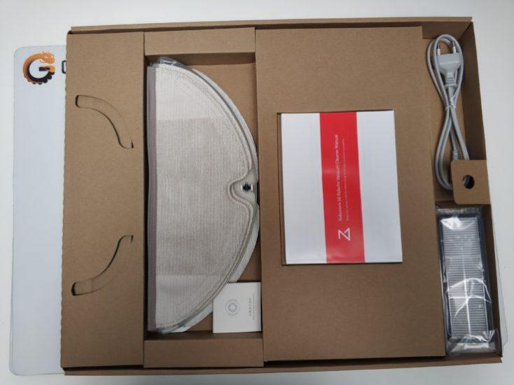Xiaomi RoboRock S6 vacuum robot packaging individual parts