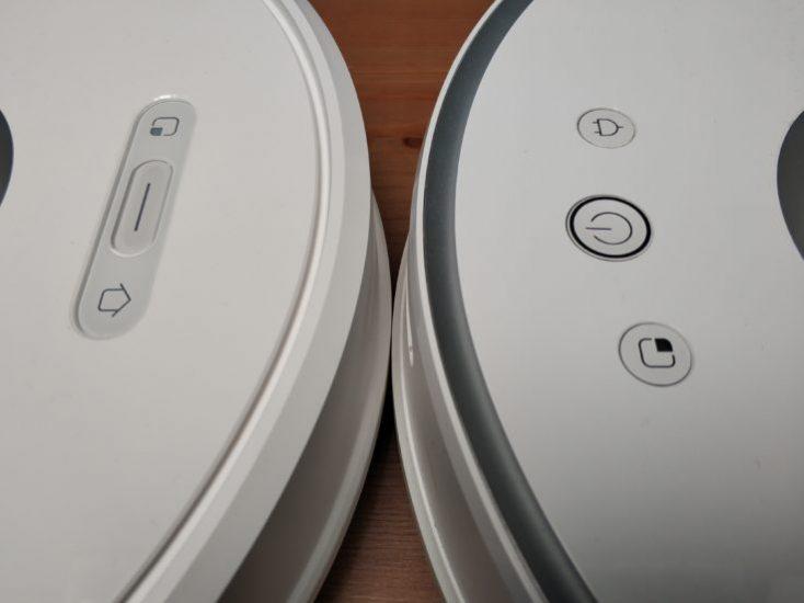 Xiaomi Roborock S6 Vacuum Robot Buttons Front Comparison