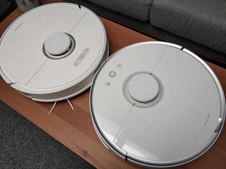 Xiaomi Roborock T6 (S6) Vacuum Robot Comparison Design S50