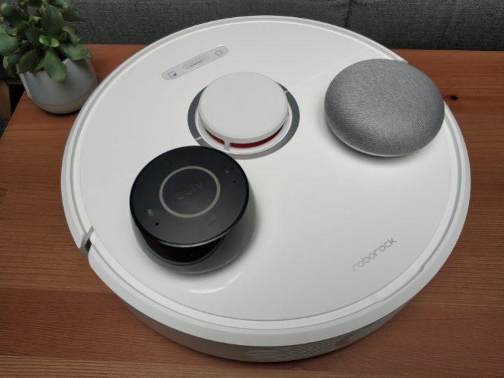 Xiaomi Roborock S6 vacuum robot control Alexa Google Home