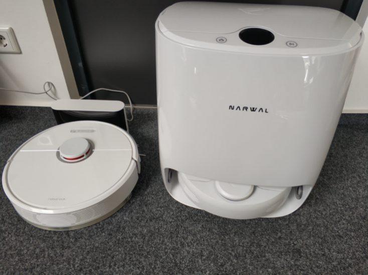 Xiaomi Roborock T6 (S6) vacuum robot loading station comparison Narwal Robotics
