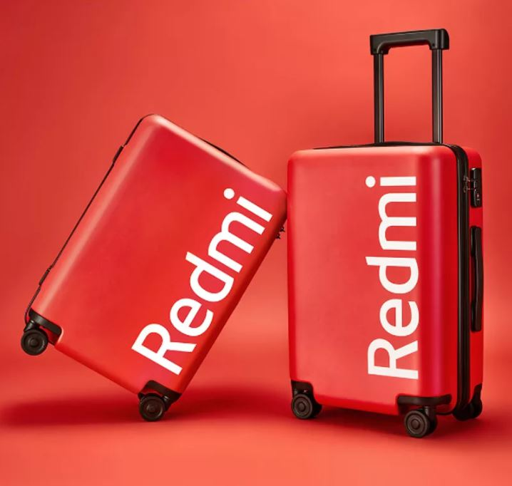 Redmi 20 inch suitcase red
