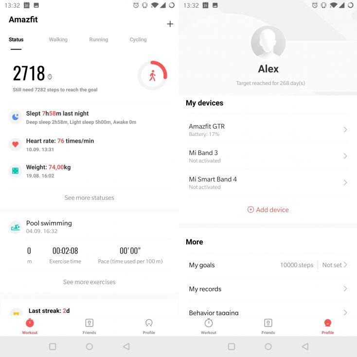 Amazfit GTR App Overview