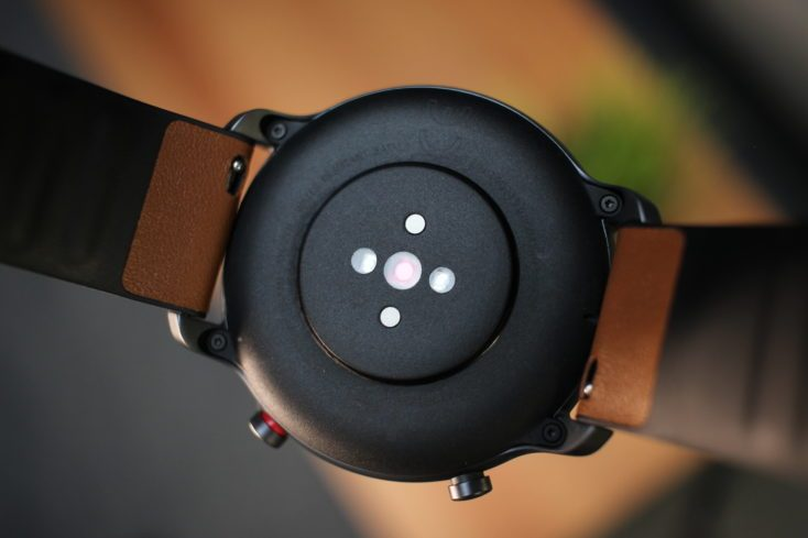 Amazfit GTR Charging Contacts Rear Pulse Monitor