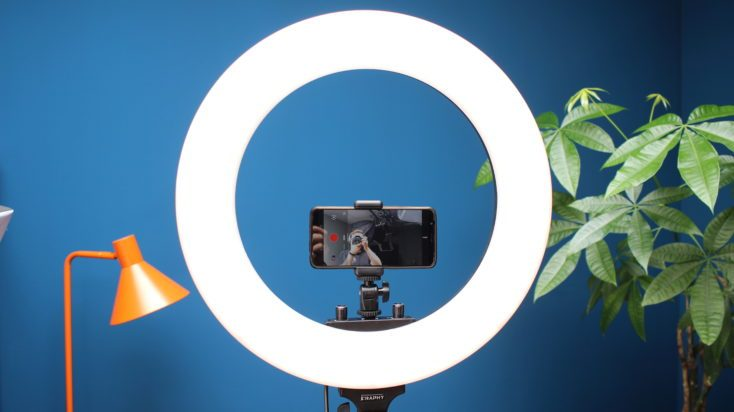 Craphy ring light switched on