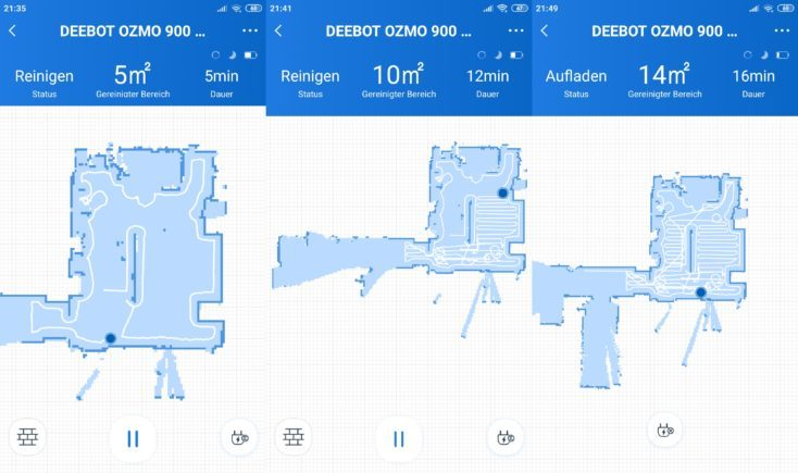 Ecovacs Home App Deebot Ozmo 900 Vacuum Robot Start Mapping