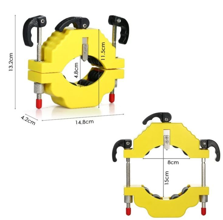 Glass bottle cutter diameter