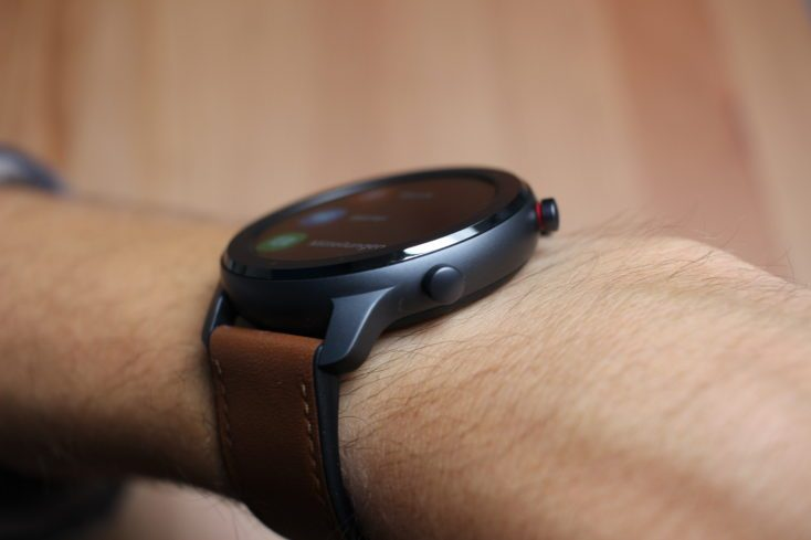 Huami Amazfit GTR 47 mm Smartwatch sideways