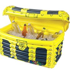 Inflatable treasure chest with contents