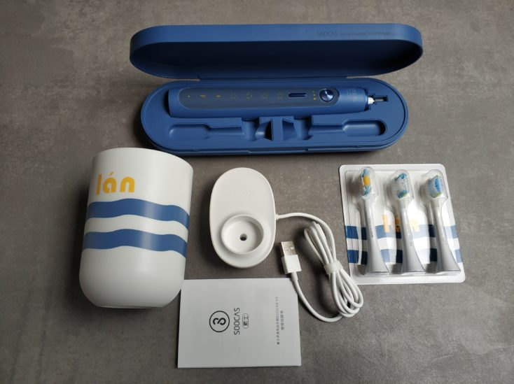 SOOCAS X5 electric toothbrush Scope of delivery