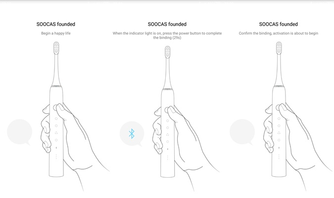 Soocas X5 Electric Toothbrush App Bluetooth Connection