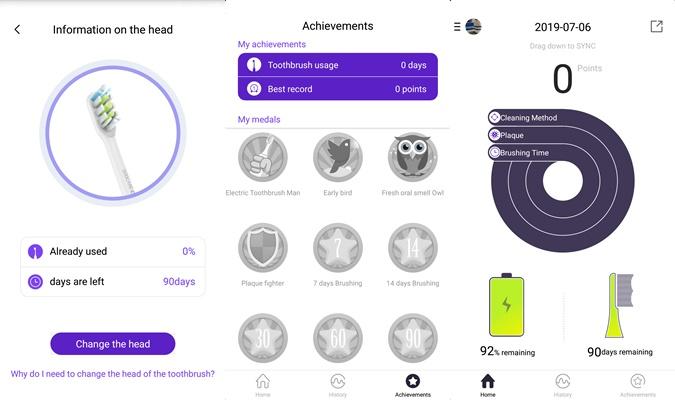 Soocas X5 Electric Toothbrush App Goals Interface