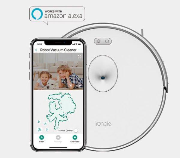 Trifo Ironpie M6 vacuum robot App Amazon Alexa control system