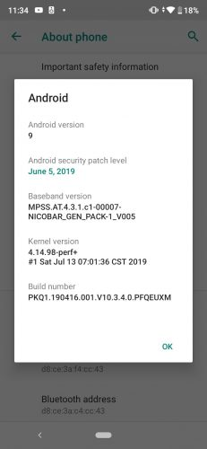 Xiaomi Mi A3 Android One Security Patch
