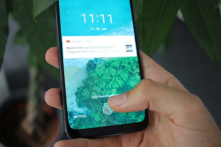 Xiaomi Mi A3 fingerprint sensor in display